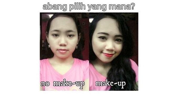 Pilih tampil natural atau pakai make up nih? Gimana Pulsker, awas terkecoh ya sama penamilan mereka.