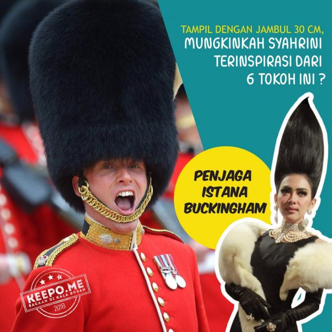 Sosok pertama mungkin adalah penjaga istana Bucckingham di Inggris Pulsker.