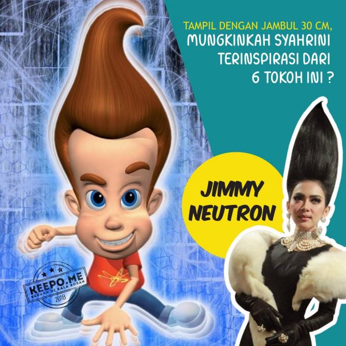 Dan yang lebih mirip dan paling mendekati adalah rambut mirip Jimmy Neutron nih Pulsker.