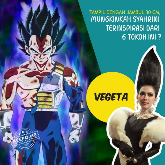 Terakhir ada sosok Vegeta dalam film kartun Dragon Ball. Nah, tokoh mana nih yang paling mirip menurut kalian Pulsker? (Sumber: Keepo.me)