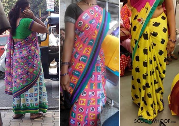 Ini buktinya kalau orang India itu sangat visioner. Mereka juga membuat sari (pakaian wanita India) dengan brand aplikasi.