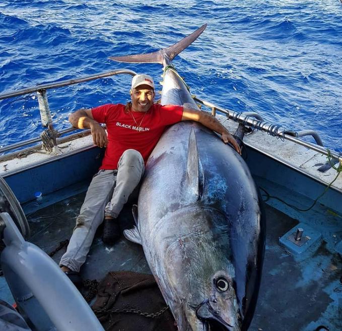 Kapan lagi bisa mendapatkan ikan Tuna sebesar ini. Rasanya pasti seperti kejatuhan duren.