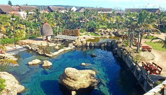 Ushaka Marina World (Afrika Selatan) Berada di Durban Afrika Selatan aquarium terbesar dan terluas di benuanya ini memiliki 32 tangki berisi hampir satu juta galon air. uShaka Marine World merupakan rumah bagi sebuah aquarium yang bertemakan taman angkatan laut tersebut. Beragam jenis makhluk laut, mulai dari kuda laut, lumba lumba hingga hiu tersimpan dalam aquarium ini. Fibuka untuk umum sejak 30 April 2004, lokasi ini juga punya sebuah cafe dan restoran terkenal.