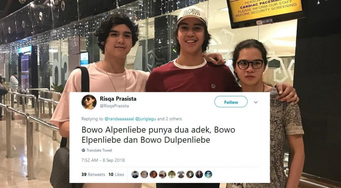 Bahkan kamu nggak pernah kepikiran kalau Bowo Alpenlibe juga punya saudara kandung.
