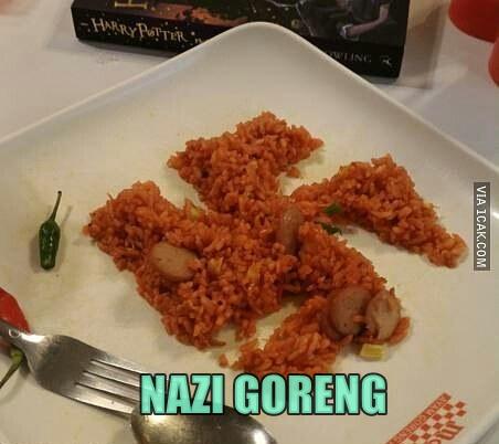 Kalau yang ini nazi goreng rasa bau nih guys.