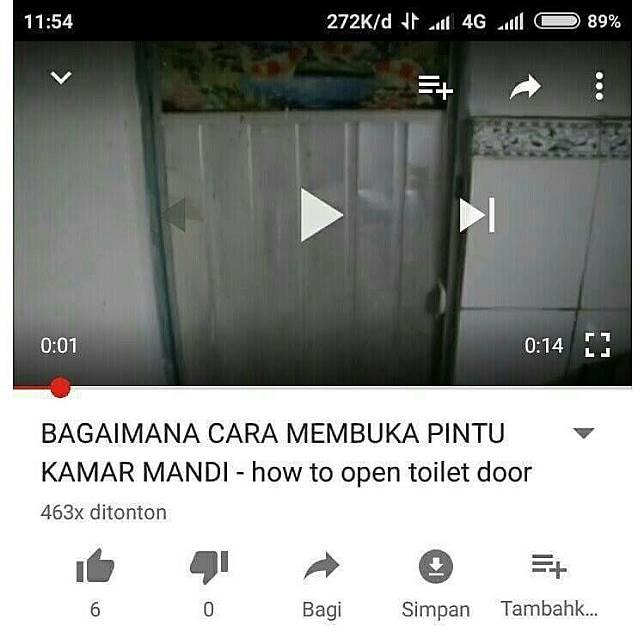 Mungkin tutorial ini dimaksudkan untuk kamu yang tiba-tiba kekunci di kamar mandi.