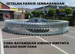 Jangan Parkir Sembarangan Kalau Nggak Ingin Kena Karma Kayak Gini