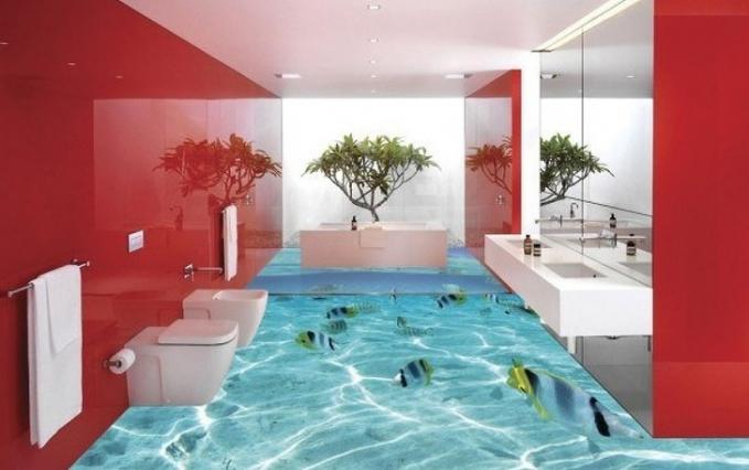 Jadi pengen berenang deh kalau kamar mandinya kayak gini dan nggak mau pindah.