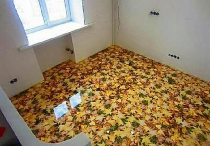 Siapa nih yang ngasih daun sebanyak ini di ruangan dalam rumah?