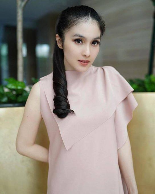 Sandra Dewi pernah berperan sebagai pembantu dalam sinetron Cinta Indah yang tayang di SCTV. Pembantu yang kalem.