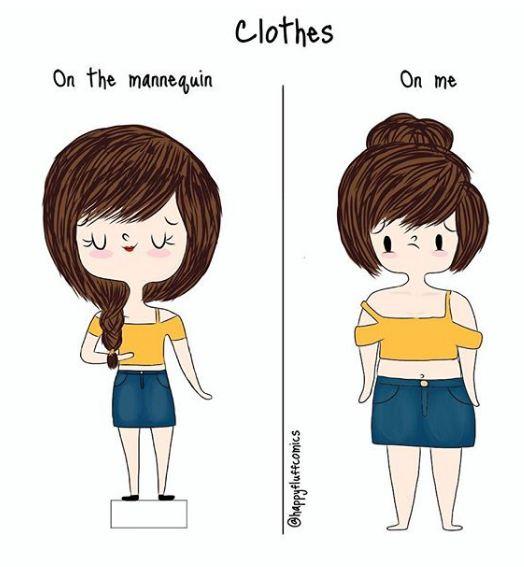 Saat baju yang kamu beli ternyata pas dipakai nggak sesuai waktu dipakai manekin. Kecewa berat nggak sih?