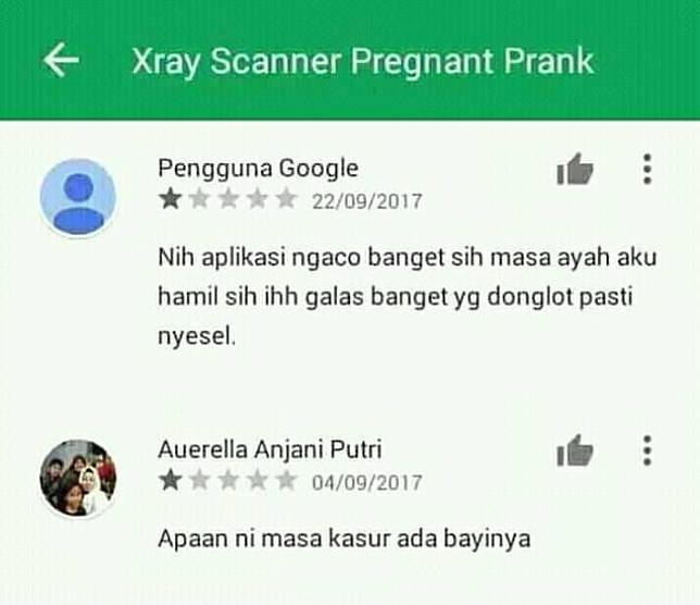 Lagian itu kan udah ada tulisan kalau Xray Prank, jadi siapa aja emang bisa hamil :D