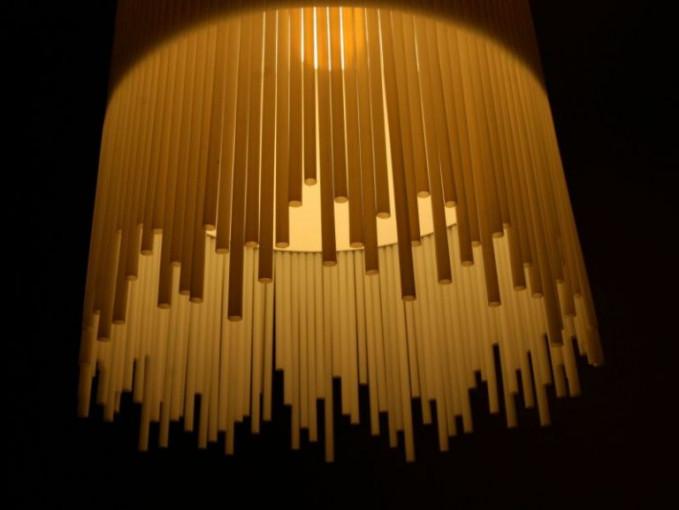 Kap Lampu dari sedotan