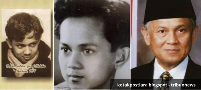 BJ Habibie Habibie lahir di Parepare Sulawesi Selatan 25 Juni 1936. BJ Habibie begitu dikenal karena dia berhasil membuat pertama buatan Indonesia yang dinamakan N250 Hatot Kaca. Kisah cintanya bersama Hasri Ainun Besari begotu menyentuh hingga dibuatkan sekuel film oleh sutradara terkenal. Melihat dari fotonya dOk masa muda, memang dia sudah terlihat sangat cerdas dari semua tatapannya.