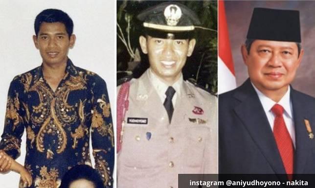 Susilo Bambang Yudhoyono Susilo Bambang Yudhoyono atau yang sering dipanggil SBY lahir di Pacitan 9 September 1949. Seperti Soeharto SBY berkecimpung di dunia militer sebelum mendirikan partai dan terpilih menjadi Presiden. SBY juga sempat menjadi Menteri Koordinator Bidang Politik, Hukum dan Keamanan sebelum mencalonkan diri sebagai Presiden. Terlihat dari fotonya Bapak SBY sangat gagah.