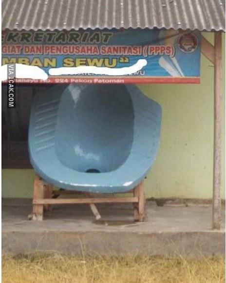 Kalau WCnya sebesar ini, orangnya sebesar apa nih?