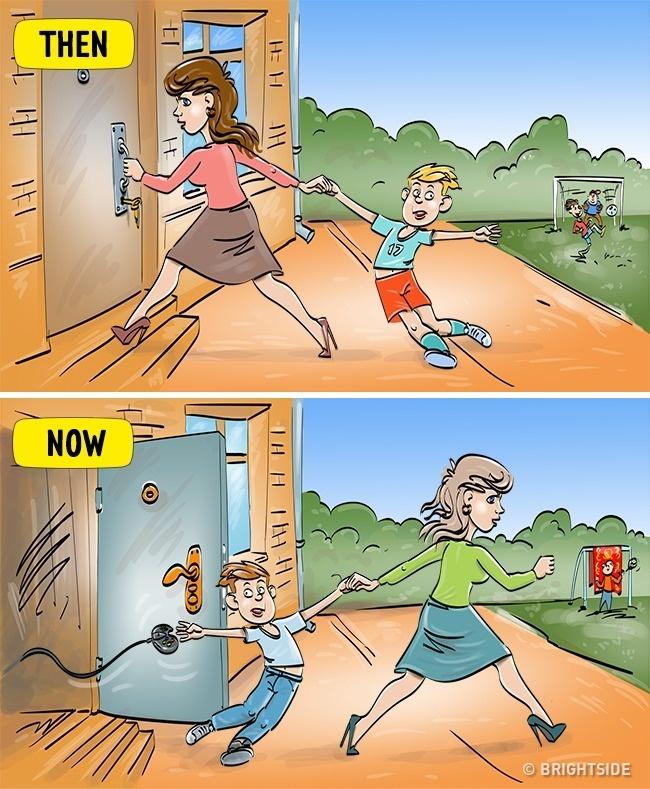 Kalau dulu orang tua membatasi anaknya main di luar ruangan, tapi saat ini orang tua membatasi anaknya main di dalam rumah terlalu lama.