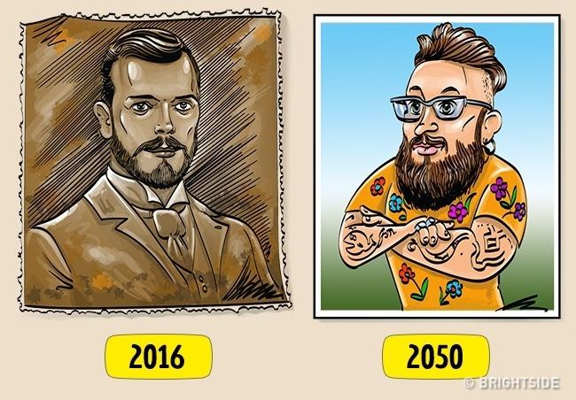 Mungkin inilah yang terjadi pada perubahan penampilan pria di masa depan.
