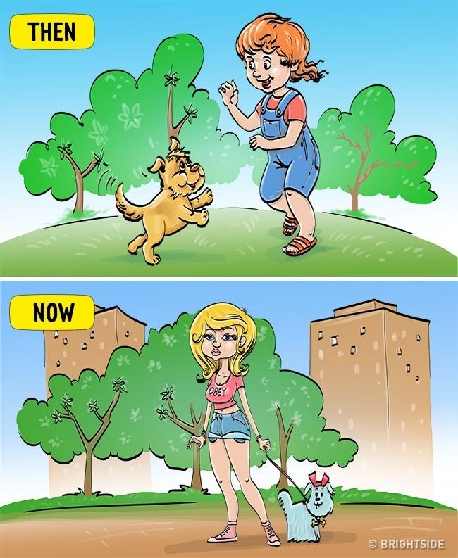 Perbedaan penampilan gadis remaja jaman dulu dan jaman sekarang. Bener banget nih!