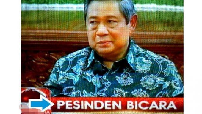 Hah, sejak kapan nih Pak SBY pernah jadi sinden?.