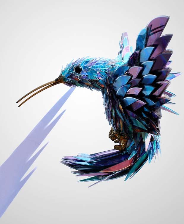 Dibikin replika burung yang unik buat dipajang di kamar boleh juga kok.