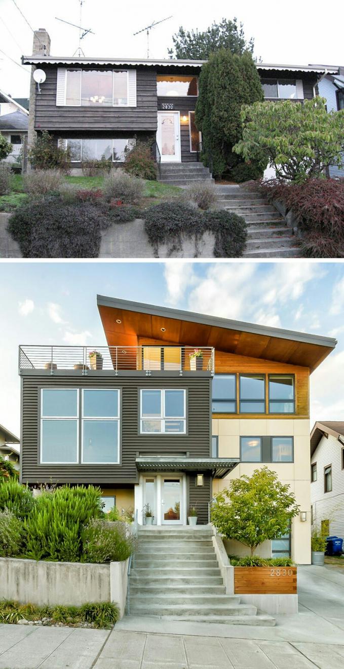 Rumahnya semakin hidup dan terang setelah direnovasi.