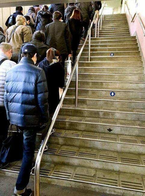 Naik tangga aja harus satu ruas aja. Padahl satu ruasnya kosong.