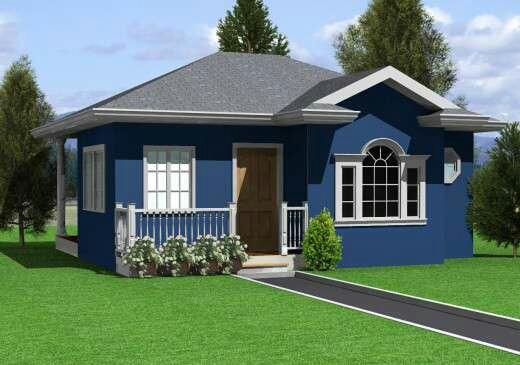 Rumah biru ini juga mempunyai halaman yang luas banget. Bikin hati jadi lapang.