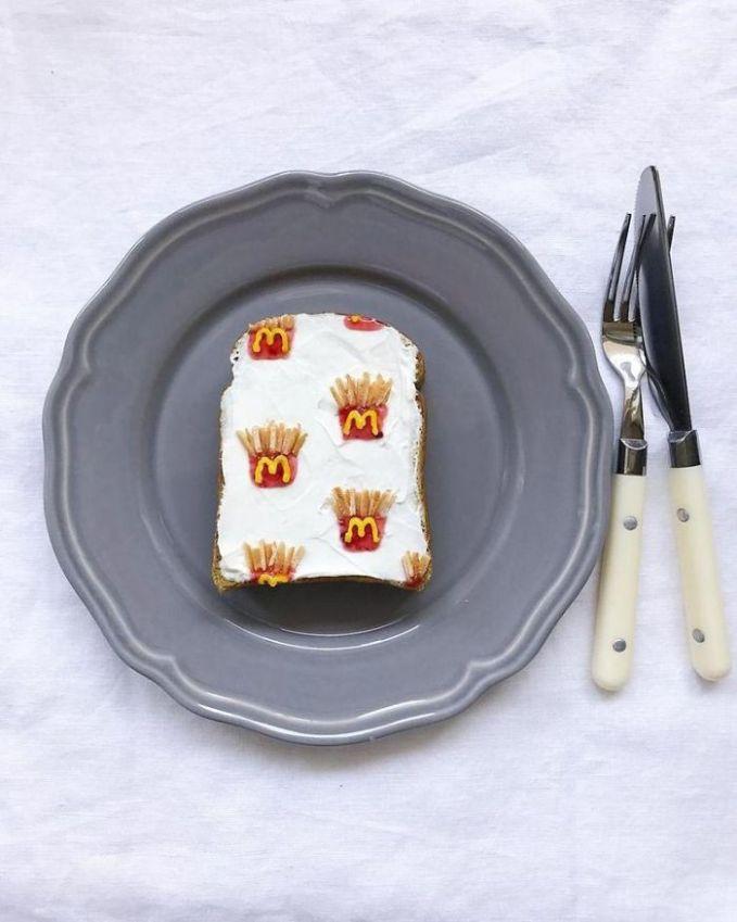 Yang pengen makan McDonald tapi nggak sempat di pagi hari, cukuplah roti ini yang menggantikan.