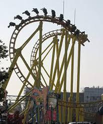 Kejadian ini terjadi dicina, sejumlah 18 orang terjebang disebuah roller coaster yang mogok, setelah 30 menit kejadian ini mampu ditangani oleh petugas, hal ini terjadi karena cuaca extreme ditaman hiburan.