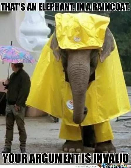 Nggak cuma manusia aja yang butuh jas hujan, gajah juga ada jas hujannya lho.