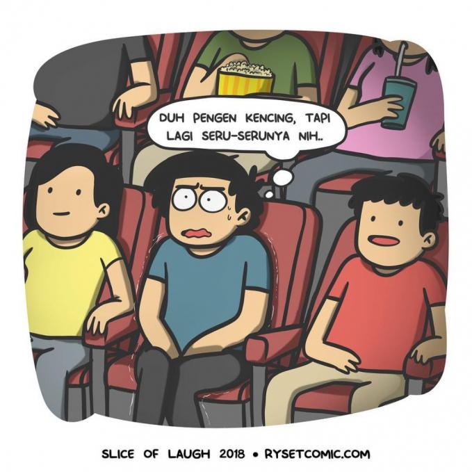Gara-gara AC bioskop yang terlalu dingin sering bikin kamu belet pipis pas filmnya lagi seru-serunya.