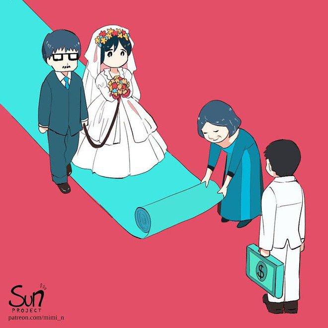 Pernikahan yang didasari karena uang memang tidak adil.