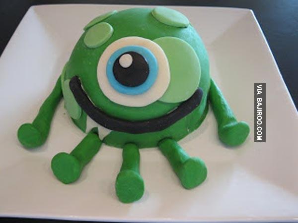 Kuenya mirip sama tokoh kartun Mike dalam film animasi Monster Inc. gaes