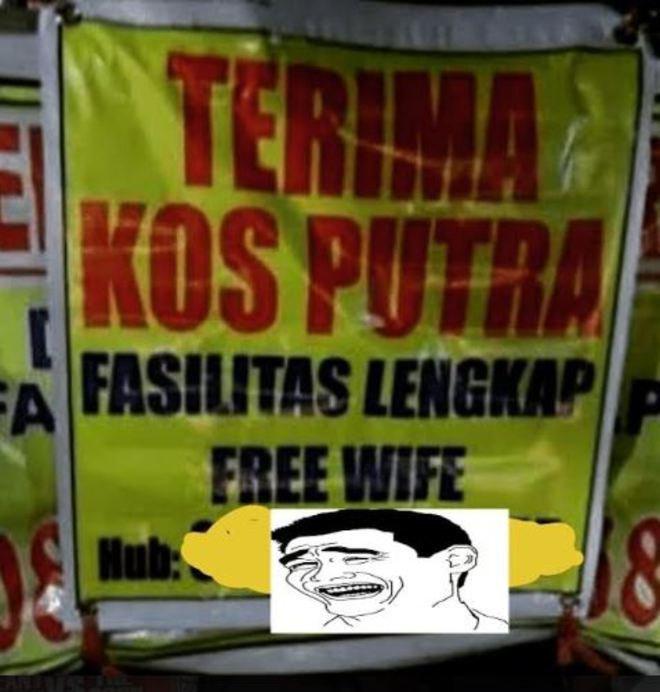 Wuuiihh..tinggal di rumah kost ini free wife (istri). Hayoo, para jomblo silakan merapat.