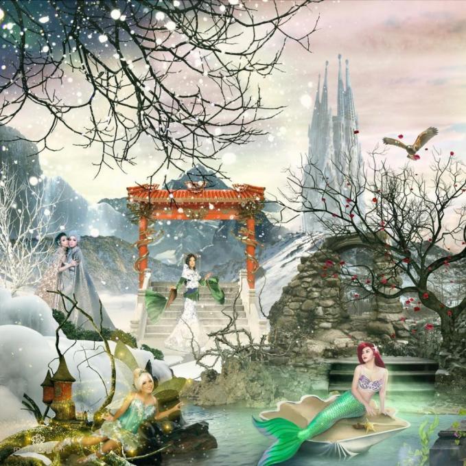 Dalam setingan ini ada Ariel Tatum sebagai Ariel dan kakak beradik Angel dan Lezia Karamoy sebagai Anna dan Elsa