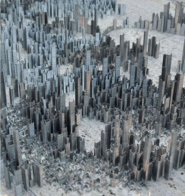 Menyerupai gedung-gedung bertingkat di kota-kota besar gaes.
