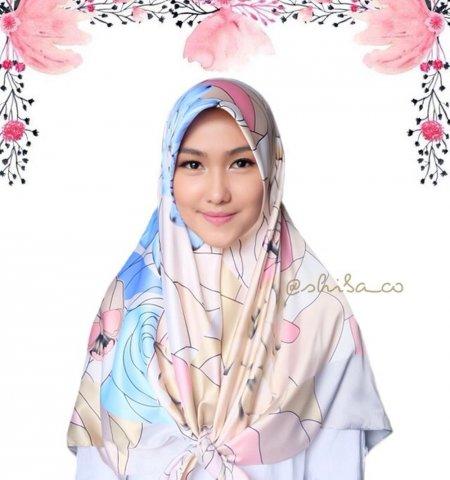 Hijab Satin Square Motif Turkey