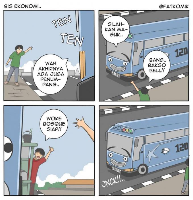Ada juga bis yang kena PHP kaya gini :D