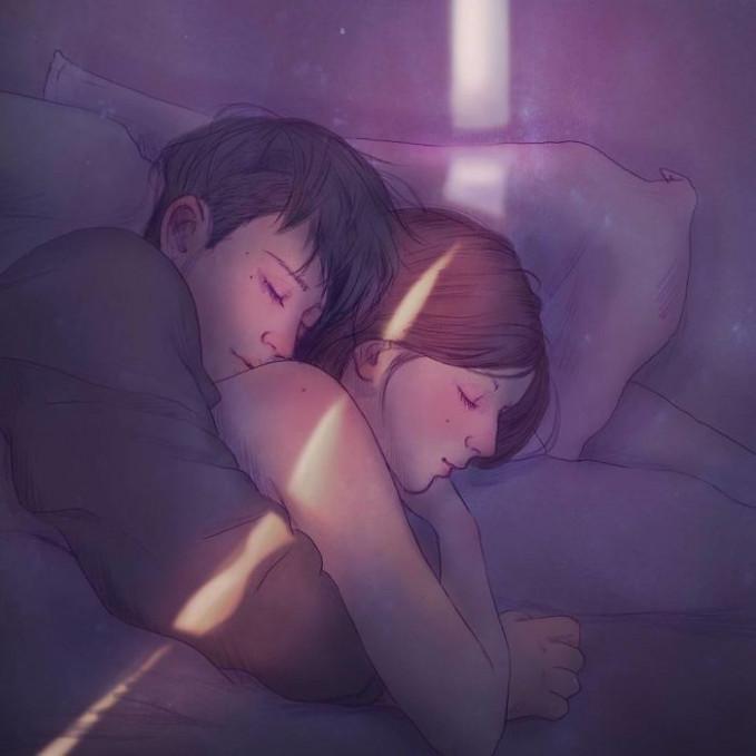 Tidur pun nggak akan sendirian lagi, karena selalu ada si dia yang bakalan meluk dirimu sepanjang malam.