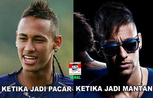 Neymar mah dari dulu udah ganteng, rugi deh cewek yang mutusin dia.