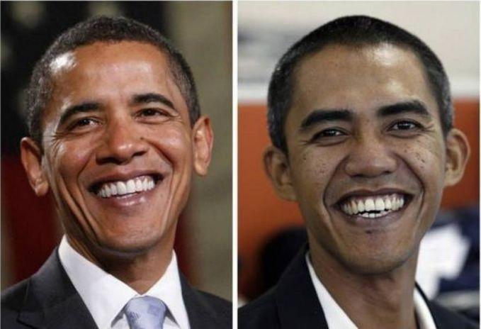 Sama halnya dengan Pak Jokowi, Barrack Obama punya 'kembaran' di Indonesia lho. Pria tersebut adalah Ilham Anas yang berprofesi sebagai seorang fotografer.