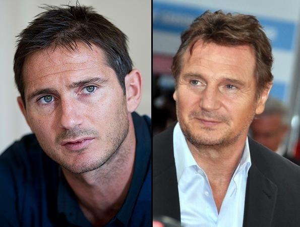 Beda latar beakang tapi punya wajah yang mirip. Itulah yang dialami oleh Frank Lampard yang berprofesi sebagai pemain bola dunia, dengan sosok Liam Nesson yang merupakan aktor kawakan Hollywood.