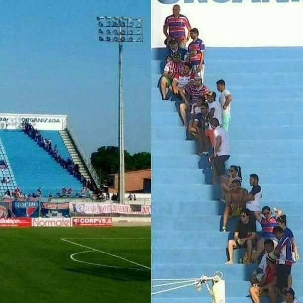 Cara jenius bapak-bapak biar enggak kepanasan pas nonton pertandingan di stadion.