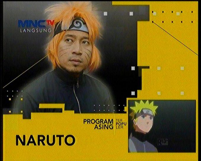 Kali ini om Denny Cagur menjajal cosplay ala Naruto gitu gengs. Kumis di pipinya itu lho yang bikin nggak tahan.