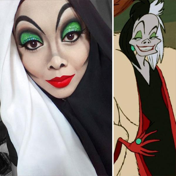 Tokoh jahat seperti Cruella De Vil pun mudah ditiru oleh saraswati.