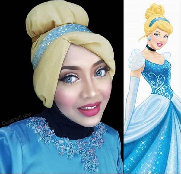 Cinderella berhijab di dunia nyata.