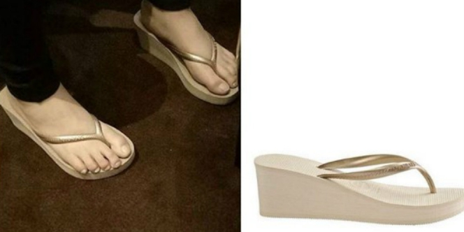 Nagita Slavina Istri Raffi Ahmad ini emang kerap mengenakan sandal jepit, dan perlu kamu tau bahwa sandal jepit yang dikenakan Nagita harganya 500 ribuan