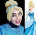 Keren ... 13 Kreativitas Berhijab Ini Meniru Gaya Karakter Putri Disney