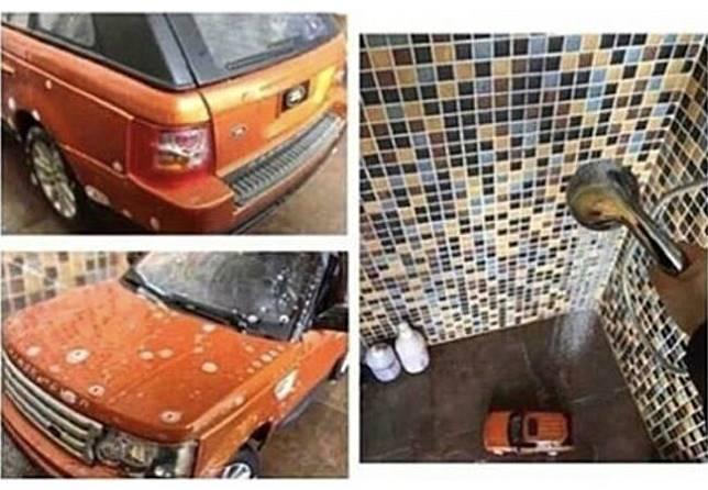 Akhir pekan cuci dulu deh Range Rover kesayangan.
